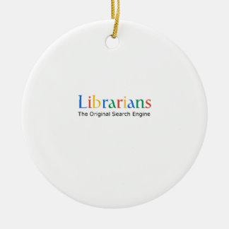 Librarians The Original Search Engine Round Ceramic Decoration