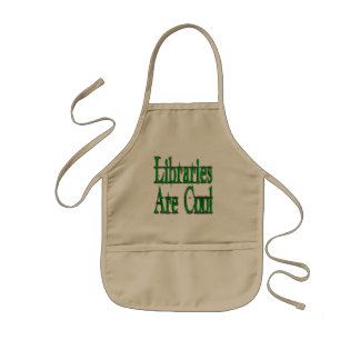Libraries Are Cool Green Aprons