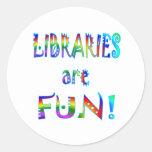 Libraries are Fun Round Sticker