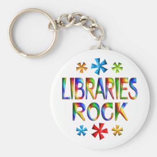 LIBRARIES ROCK KEY RING