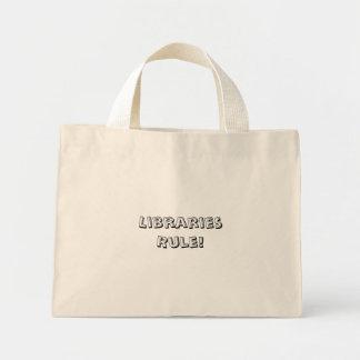 Libraries Rule! Totebag Mini Tote Bag