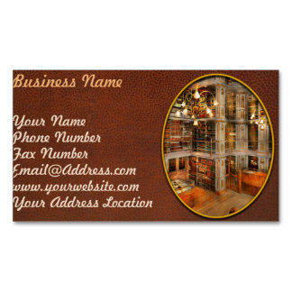 Library - A literary classic 1905 Magnetic Business Cards