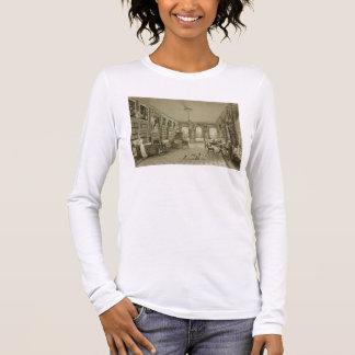 Library as Sitting Room, Cassiobury Park, c.1815, Long Sleeve T-Shirt