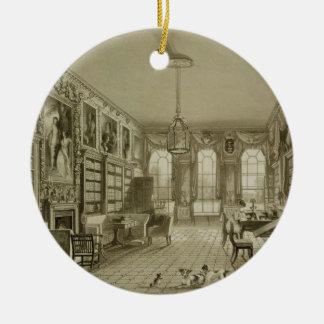 Library as Sitting Room, Cassiobury Park, c.1815, Round Ceramic Decoration