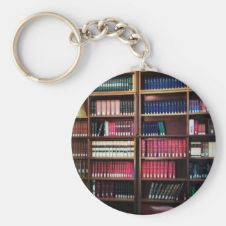 Library Basic Round Button Key Ring