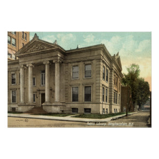 Library, Binghamton NY Vintage 1909 Posters