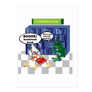 LIBRARY BOOK CHOOK JOKE POSTCARD