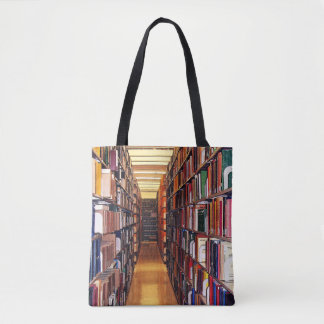 Library Book Shelves Tote Bag