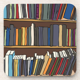 Library Books Coaster