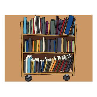 Library Books Postcard