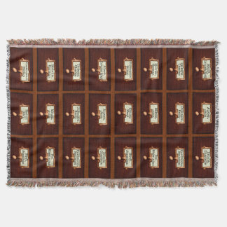 Library Books Wood Card Catalog Drawers Reading Throw Blanket