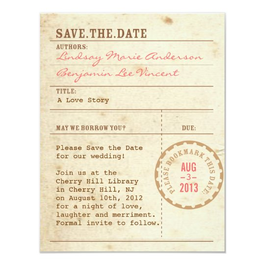 Library card save the date idealstalist library card save the date colourmoves