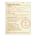 Library Card Save the Date 11 Cm X 14 Cm Invitation Card