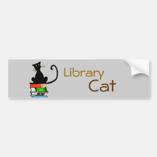 Library Cat Bumper Sticker