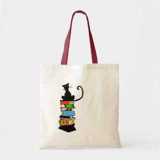 Library Cat Tote Bag