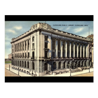 Library, Cleveland, Ohio c1934 Postcard