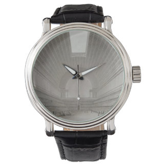 """Library' Custom Black Vintage Leather Watch"
