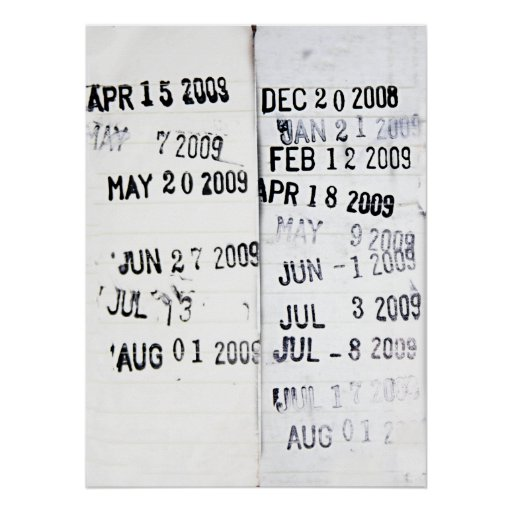 Library Date Stamp Poster