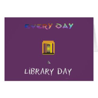 Library Day Greeting Card