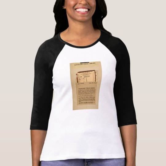 Library Due Date Card T-Shirt