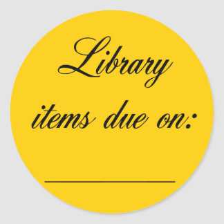 Library Due Date Reminder Sticker