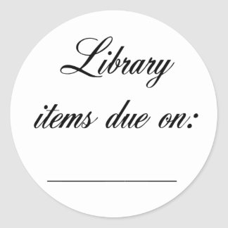 Library Due Date Reminder Stickers