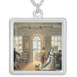 Library, from 'Poetical Sketches of Silver Plated Necklace