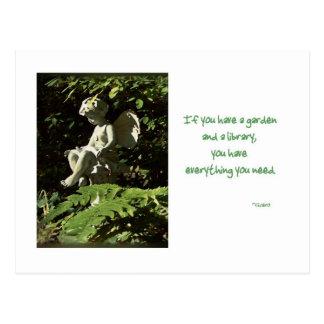 Library Garden Sprite card Postcard