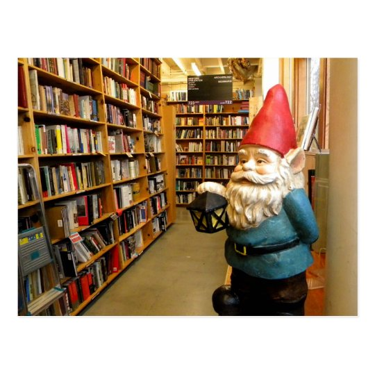 Library Gnome I Postcard