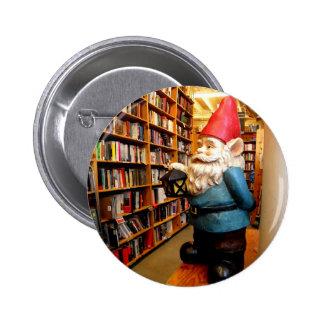 Library Gnome II 6 Cm Round Badge