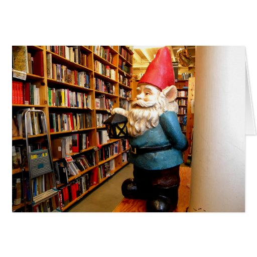 Library Gnome II Greeting Card