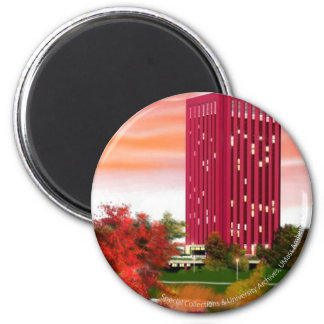 Library in Fall by Tam Nguyen 6 Cm Round Magnet
