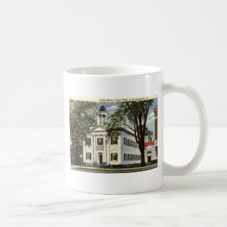 Library, Lenox, Massachusetts 1932 Vintage Coffee Mug