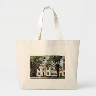 Library, Lenox, Massachusetts 1932 Vintage Jumbo Tote Bag