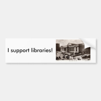 Library, New York City c1910 Vintage Bumper Sticker