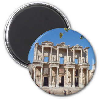 Library of Celsus 6 Cm Round Magnet