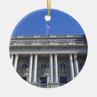 Library of Congress Round Ceramic Decoration