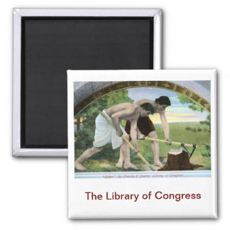 Library of Congress Vintage Square Magnet