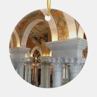Library of Congress Washington DC Ornement Round Ceramic Decoration