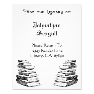 Library of Custom Bookplate Flyers