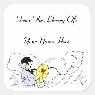 Library of Storybook Kite Custom Bookplate Sticker