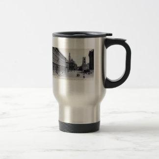Library Saint-Genevieve, Paris France 1905 Vintage Stainless Steel Travel Mug