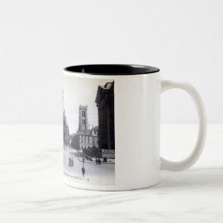 Library Saint-Genevieve, Paris France 1905 Vintage Two-Tone Mug