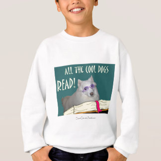 Library - Samoyed - Cool Dogs Read Literacy Sweatshirt