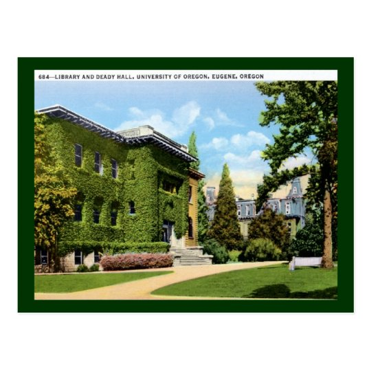 Library, University of Oregon, Eugene Vintage Postcard
