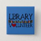 Library Volunteer Books - Change Colour 15 Cm Square Badge