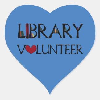 Library Volunteer - Choose Color Heart Sticker