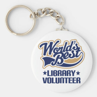 Library Volunteer Gift Basic Round Button Key Ring