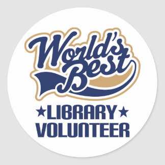 Library Volunteer Gift Classic Round Sticker