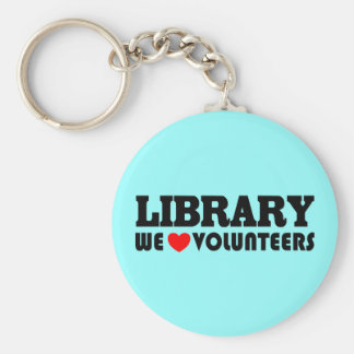 Library Volunteer Keychain